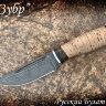 """Нож """"Зубр"""", клинок дамасская сталь, рукоять береста"""