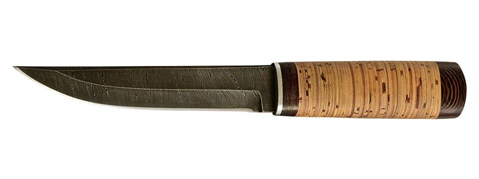 """""""Скиталец"""", клинок дамасская сталь, рукоять береста"""
