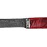 """""""Карачаевский"""" (""""Бычак""""), дамасская сталь, стабилизированный кап (цвет темно-розовый), мельхиор"""