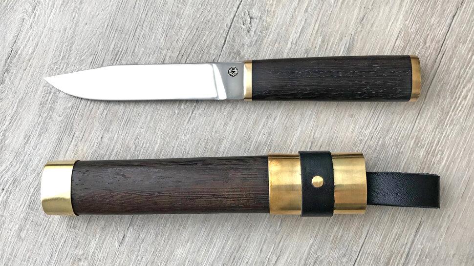 """""""Алтайский-М №2"""", клинок порошковая сталь Elmax, рукоять венге, деревянный чехол"""
