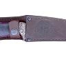 """""""Пират-2"""" (вариант 2), дамасская сталь, стабилизированная карельская береза (цвет черный), мельхиор"""