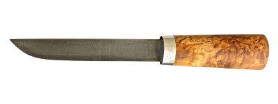 """Авторский нож """"Пареньский средний"""", дамасская сталь, стабилизированная карельская береза (цвет натуральный)"""