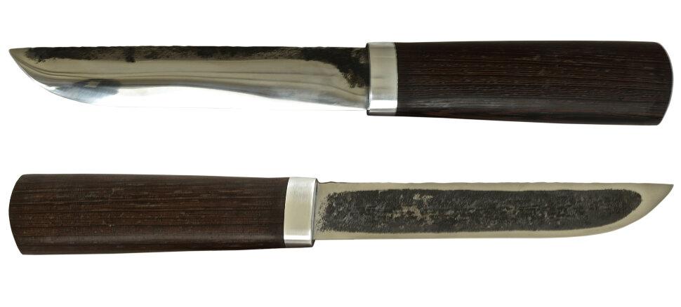 Якутский нож средний 002, ручная ковка, сталь У8, заточка линза, венге