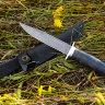 """""""Разведчик"""", дамасская сталь, стабилизированная карельская береза (цвет черный)"""
