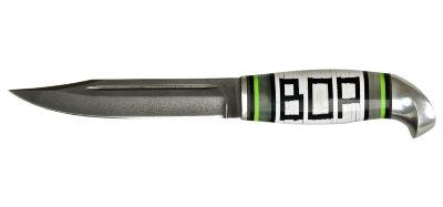 Жиганская финка ВОР 002, кованая сталь Х12МФ, наборный пластик