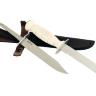 """Нож разведчика НР-43 """"Вишня"""", разборный, два клинка из стали У8 + ELMAX, пластмасса (цвет белый)"""