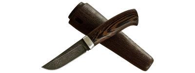 """""""Классик-2"""", дамасская сталь, венге, деревянный чехол"""