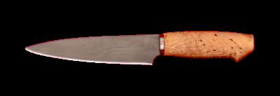 """""""Кухонный средний"""", сталь Х12МФ, карельская берёза"""