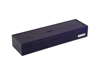 Коробка из бука под нож синяя