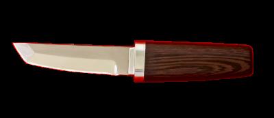 """""""Самурай малый"""", сталь 95Х18, венге, деревянный чехол"""