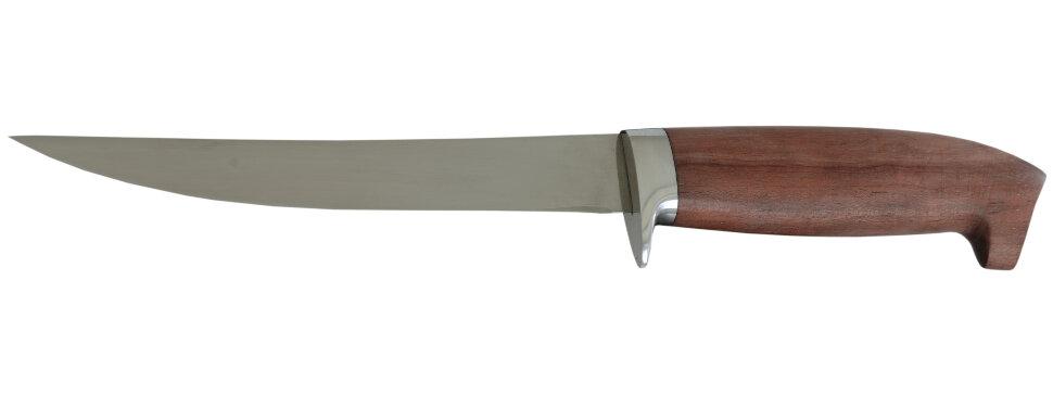 """Филейный нож """"Судак средний"""", сталь 65Х13, бубинга"""