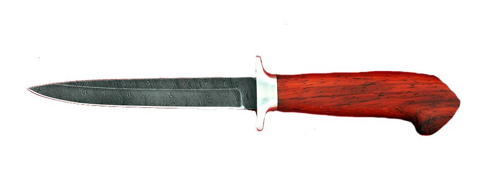 """Нож """"Егерь-4"""", клинок дамасская сталь, рукоять падук"""