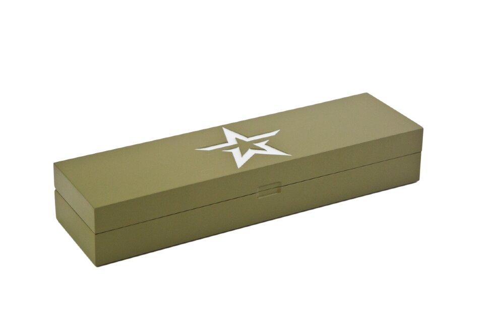 Коробка из бука под нож Армия России
