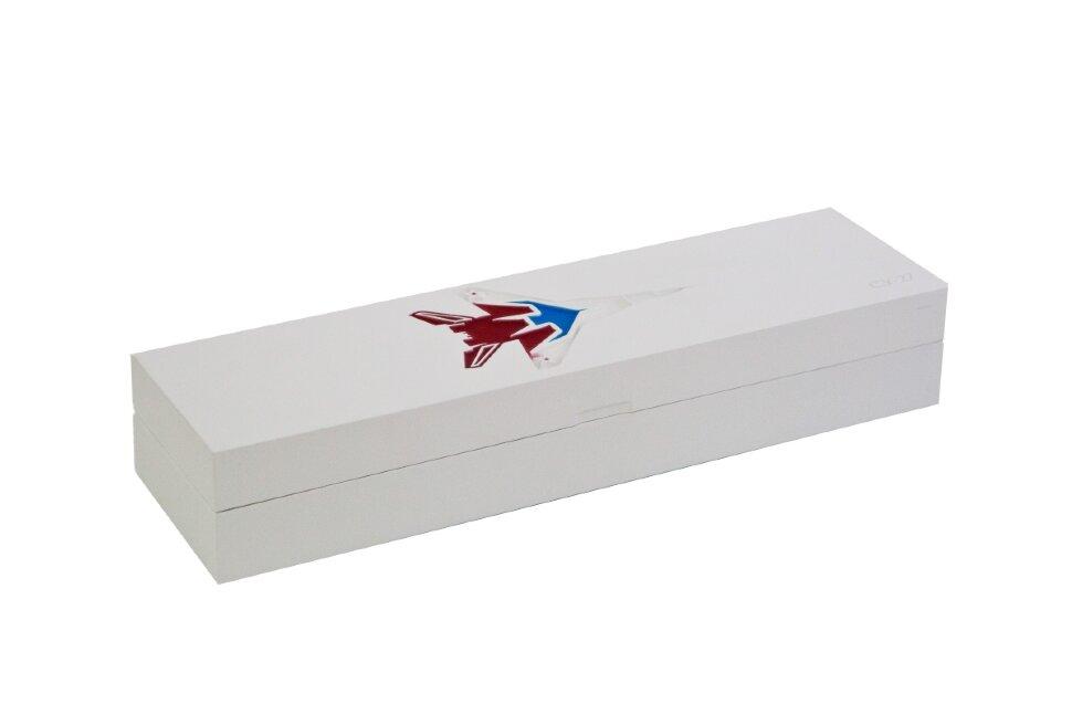 Коробка из бука под нож белая