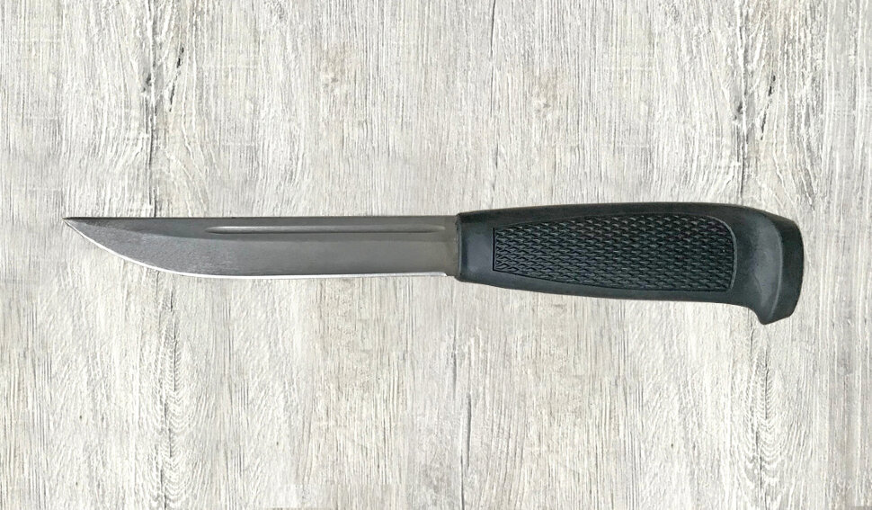 Финка-043, сталь х12мф, пластмасса (цвет черный)