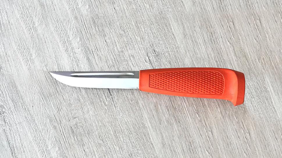 Финка-041, сталь 95х18, резинопластик (цвет оранжевый)